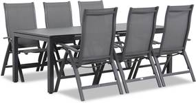 Famous Furniture Premium/Concept 220 cm dining tuinset 7-delig