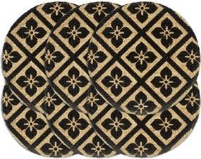 Placemats 6 st rond 38 cm jute zwart