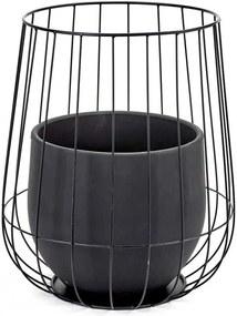 Serax Cage Plantenbak Zwart