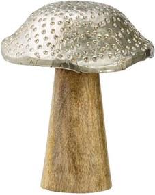 Decoratie paddenstoel - bruin - Ø10x12 cm - Leen Bakker