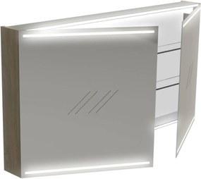 Deluxe Spiegelkast 70x130x13,5 cm Wit Hoogglans