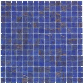 Mozaiektegel Amsterdam Blue Golden Vein Glass 322x322