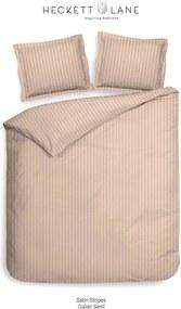Heckett & Lane dekbedovertrek Uni Stripe - beige - 240x220 cm - Leen Bakker