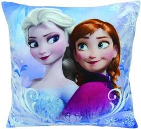 Frozen Kussen Elsa en Anna blauw 34 x 34 x 11 cm