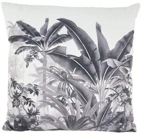 Kussen fluweel - bomen - grijs - 45x45 cm
