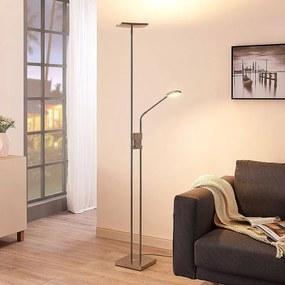 LED-uplighter Jonne met leeslamp, dimbaar, hoekig - lampen-24