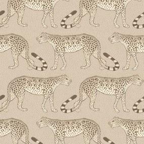 Cole & Son Leopard Walk Behang Stone