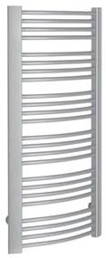 Handdoekradiator Sapho Egeon Gebogen 59.5x123.8 cm Zilver