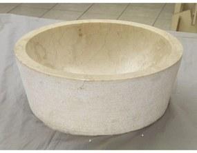 Waskom Imso Lavabo Cilindro Beige Marmer 40x15 cm