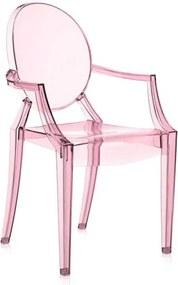Kartell Lou Lou Ghost kinderstoel roze
