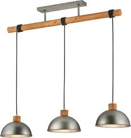 Trio Hanglamp Delhi - Metaal - 3 Lichtbronnen - Nickel