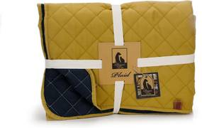 plaid futon geel blauw 200x150