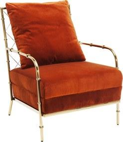Kare Design Regina Oranje Fauteuil Fluweel