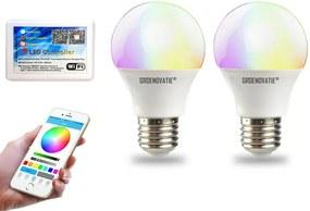 Wifi RGBWW LED Starterset (2x RGBWW LED E27 6W + WiFi Module)