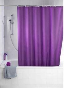 Wenko Milano Douchegordijn polyester 180x200cm 100% polyester met anti schimmel behandeling Paars 20035100