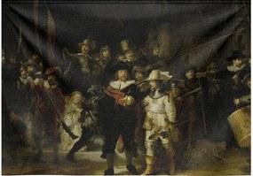Goossens Schilderij Wandkleed De Nachtwacht, 190 x 132 cm