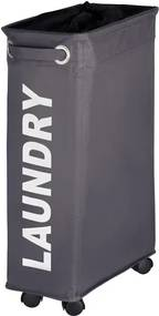 Wenko Quadro Wasmand 60x40x18.5cm polyester grijs 3450115100