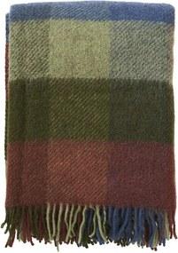 Plaid Gotland wol: ruiten, Multi Green