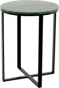 Hearthome & Living | Bijzettafel Luz lengte 44 cm x breedte 44 cm x hoogte 58 cm groen bijzettafels tafelplaat: marmer, | NADUVI outlet