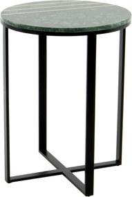 Hearthome & Living | Bijzettafel Luz lengte 44 cm x breedte 44 cm x hoogte 58 cm wit bijzettafels tafelplaat: marmer, ijzer;frame: | NADUVI outlet
