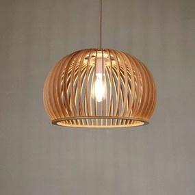 Amiens Houten Design Hanglamp, E27 Fitting, ⌀45cm, Naturel