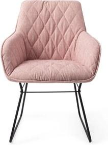 Jesper Home | Eetkamerstoel Dale hoogte 89 cm x breedte 66 cm x diepte 66 cm x zithoogte lichtroze eetkamerstoelen textiel, | NADUVI outlet