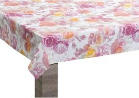 Tafelzeil Rose - multikleur - 140 cm - Leen Bakker