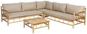 Exotan Bamboe hoek loungeset - 4-delig