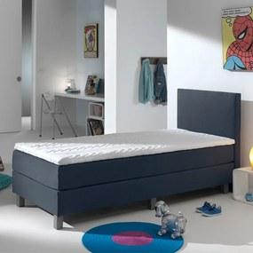 Primaviera Deluxe Kinderboxspring Comfort - Donkerblauw 90 x 200 cm, Topper: Standaard Comfortschuim, Montage: Exclusief montage