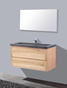 Badkamermeubelset Sanilux Wood Stone 100x47x50 cm Massief Eikenhout