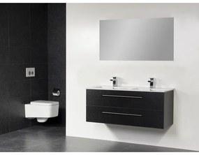 Saniclass Exclusive line Kera 120 badmeubel Black Diamond met spiegel 2 lades