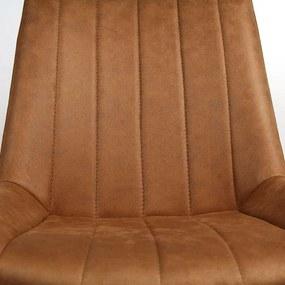 Viverne | Eetkamerstoel Breas - totaal: breedte 56 cm x diepte 52 cm x hoogte cognac eetkamerstoelen pu leer, metaal stoelen | NADUVI outlet