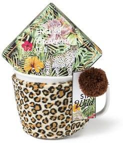 Mok met oor giftset luipaard - thee