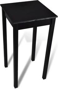 Bartafel 55x55x107 cm MDF zwart