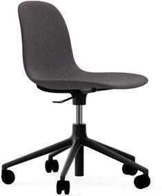 Normann Copenhagen Form Chair Bureaustoel Met Zwart Onderstel Breeze Fusion 4103 Grijs