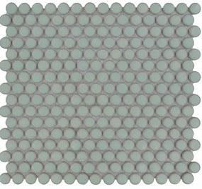 The Mosaic Factory Venice Pennyround mozaïektegel 1.9x0.5cm wandtegel voor binnen en buiten Rond Keramiek Licht Groen VKN500