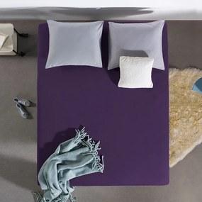 Home Care HC Dubbel Jersey Hoeslaken - Paars 80/90/100 x 200 cm