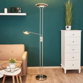 Nikkelkleurige LED uplighter Aras - lampen-24