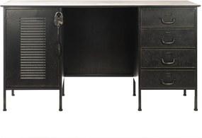 Rootsmann Vintage bureau | Zwart met slot