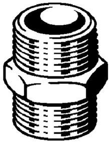 Viega dubbele nippel met zeskant 1 4 brons 320416