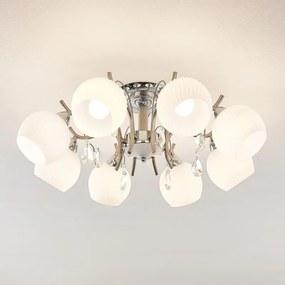Feodora plafondlamp in chroom, 8-lamps - lampen-24