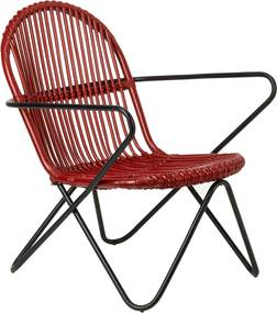 Pols Potten Timor fauteuil rood