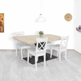 Steigerhouten tafel Browns met grote V poot