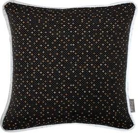 Kussen zwart spikkeltjes, Alex, 30 cm