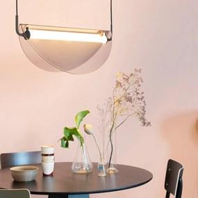 Zuiver Rani Smoke Retro Hanglamp Gebogen Glas - Smoke Grey