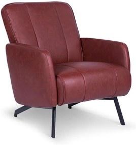 Lanterfant   Fauteuil Bradley - totaal: lengte 70 cm x breedte 83 cm x hoogte rood fauteuils pu-leer, staal stoelen & fauteuils   NADUVI outlet