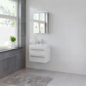 Bando badmeubelset 60 cm | spiegelkast | aluminium greeplijst- mat wit