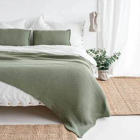 Sprei 2persoons groen, Lazy Morning