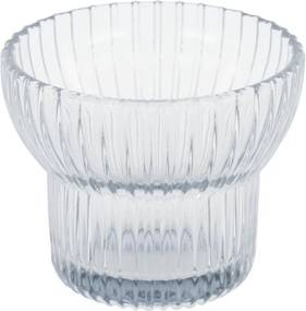 Waxinelichthouder Ø8x6.5 - Glas Grijs (grijs)
