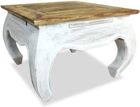 Bijzettafel 50x50x35 cm massief gerecycled hout
